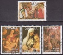 Weihnachten, Guyana 3072/75 , O (U 1926) - Kerstmis