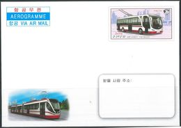 NORTH KOREA 2020 TROLLEY BUS AEROGRAM MINT - Bus