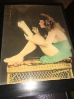 See Photos. Woman Scantily Dressed In Pose. Photo Is Hand Tinted. 1915 - Anonymous Persons