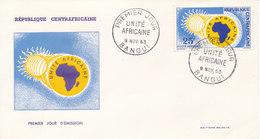Central African Republic FDC Bangui 9-11-1963 Africa United With Cachet - Centrafricaine (République)