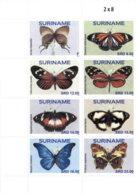 SURINAME 2020 MNH Butterflies Schmetterlinge Papillons 8v - OFFICIAL ISSUE - DH2007 - Butterflies