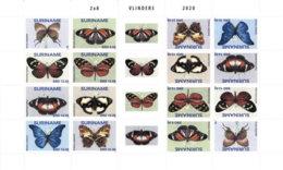 SURINAME 2020 MNH Butterflies Schmetterlinge Papillons M/S - OFFICIAL ISSUE - DH2007 - Butterflies