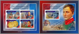 MALDIVES 2019 MNH Napoleon Bonaparte M/S+S/S - OFFICIAL ISSUE - DH2007 - French Revolution