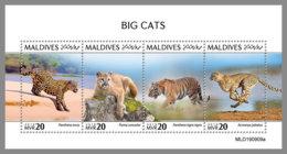 MALDIVES 2019 MNH Big Cats Großkatzen Raubkatzen Chats Grande M/S - IMPERFORATED - DH2007 - Felinos