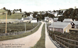 View From Derby Line Vermont VT And Rock Island Station Quebec - VG Condition - Unused - 2 Scans - Etats-Unis