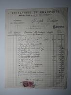 1937 FACTURE - BELFORT Joseph ESSNER MENUISERIE MÉCANIQUE Timbre Fiscal DA 75 Centimes - 1900 – 1949
