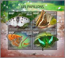 NIGER 2019 MNH Butterflies Schmetterlinge Papillons M/S - OFFICIAL ISSUE - DH2007 - Butterflies