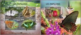 NIGER 2019 MNH Butterflies Schmetterlinge Papillons M/S+S/S - OFFICIAL ISSUE - DH2007 - Butterflies