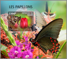 NIGER 2019 MNH Butterflies Schmetterlinge Papillons S/S - OFFICIAL ISSUE - DH2007 - Butterflies