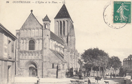 14  OUISTREHAM  L' Eglise Et La Place - Ouistreham