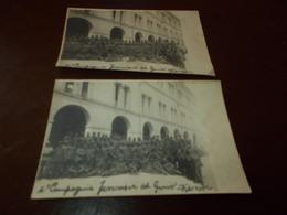 B761  2 Foto Militari Quarta Compagnia Ferrovieri Del Genio Treviso Cm12,5x8 Circa Pieghine E Macchie Umido - Photographie