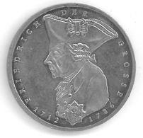 ALLEMAGNE - 5 MARK 1986 - 200ème Anniversaire De La Mort De Frederic II - [ 7] 1949-… : RFA - Rep. Fed. Tedesca