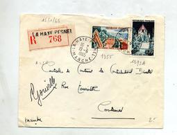 Lettre Recommandée La Haye Sur Touquet Provins - Marcophilie (Lettres)