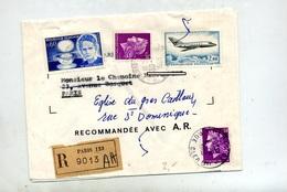 Lettre Recommandée Paris 123 Sur Cheffer Mystere Curie - Marcophilie (Lettres)
