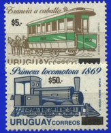 URUGUAY, 2004, TRAINS, YV#2152+2154, MNH - Treni