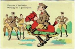 Militaria. Humour. Exercice D'Equitation. Oefening In 't Paardrijden. - Humour