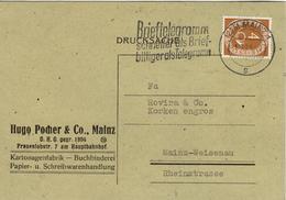 D+ Deutschland 1951 Mi 124 Ziffer 4 Auf PK - [7] Federal Republic