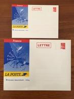 Lot De 2 PAP Enveloppes Cartonnées - Marianne De Luquet RF 100g Et 500g Y&T N° 3417-E5 Et E6 - 2002 - Neufs ** - Prêts-à-poster:  Autres (1995-...)