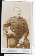 Photo Albuminée CDV  Ca 1880  PAUL MIESIENSKI à Avignon Pie -  MILITAIRE 19e Régiment D'Artillerie Basé à Nimes  (ref 10 - Fotos