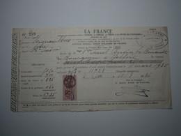 1936 MIGNAVILLERS (Haute-Saône) LA FRANCE - H. CHARATRE LURE Timbre Fiscal 50 Centimes - 1900 – 1949