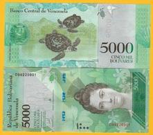 Venezuela 5000 Bolivares P-97c 2017 UNC Banknote - Venezuela