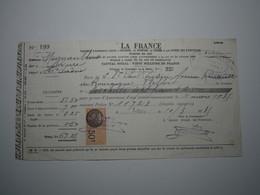 1935 MIGNAVILLERS (Haute-Saône) LA FRANCE - H. CHARATRE LURE Timbre Fiscal 50 Centimes - 1900 – 1949