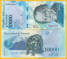 Venezuela 10000 (10,000) Bolivares P-98b 2017 UNC Banknote - Venezuela