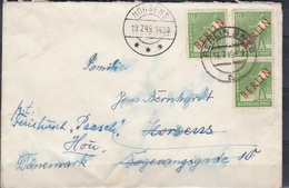 +F1117. Berlin 1949. Used Cover. Michel 3 X 24. Forwarded. (No Postmark Reversal). - [5] Berlin