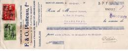 FABRIQUE DE TISSUS ET CONFECTIONS - F. & G. PLATTEAU - MONT-ST-AMOND - GAND - 1929. - Lettres De Change