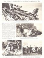 """LE GRAVE ACCIDENT DU RAPIDE """" PARIS-NANTES """"  à BUDAN  1930 - Ancenis"""