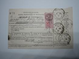 1937 BELFORT Carte Auditeur Service Radiodiffusion Timbre Fiscal 50 Centimes - 1900 – 1949