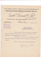 Courier Commercial 1911 Machines Agricoles Emile Puzenat & Fils, Bourbon-Lancy, Saône-et-Loire - Agriculture