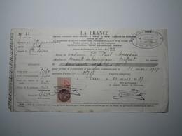 1937 MIGNAVILLERS (Haute-Saône) LA FRANCE - H. CHARATRE LURE Timbre Fiscal 50 Centimes - 1900 – 1949