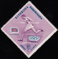 DOMINICAN REPUBLIC - Scott #C101 Melbourne '56 Olympic Games, Winning Athletes / Mint NH Stamp - Summer 1956: Melbourne