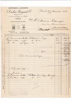 Facture 1918 Orfèvrerie N. Cailar, Bayard & Cie, 37-39 Rue Grange Aux Belles, Paris - France