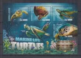 O351. Sierra Leone - MNH - 2016 - Nature - Marine Life - Turtles - Pflanzen Und Botanik
