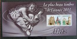 FRANCE - 2012 - YT BLOC SOUVENIR 75 ** (sans Blister) - LE PLUS BEAU TIMBRE DE L ANNEE 2011 - METZ - Souvenir Blokken