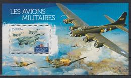 T745. Guinea - MNH - 2015 - Military - Transport - Airplanes - Bl. - Militaria