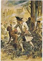 TROUPES De MONTCALM Au CANADA , Combat De CHEGUEN 1756 ( Signée Maurice TOUSSAINT ) N° 25 - Reggimenti