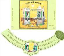 Etiquettes De CHAMPAGNE , Cuvée Des Amoureux - Champagne