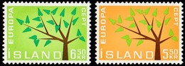 ICELAND - Scott #348-349 Europa '62, Young Tree / Set Of 2 MNH Stamps - 1984
