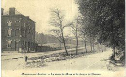 MONCEAU-SUR-SAMBRE    La Route De Mons Et Le Chemin Du Hameau. - Charleroi