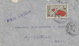 MADAGASCAR YT PA 7 SEUL SUR LETTRE AVION TANANARIVE 12/8/35 POUR AMPLEPUIS RHONE - Madagascar (1889-1960)