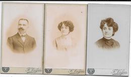 3 Photos Albuminées CDV- Ca 1880  F. VAGUE à APT (Vaucluse)  Un Homme Moustachu Et 1 Jeune Femme Coiffure Courte (ref 17 - Fotos