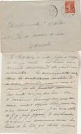 Lettre De Les Sources Cachet BUSSANG Vosges 25/1/1916 à Mlle Calas Marseille Texte Voir Description - WW I