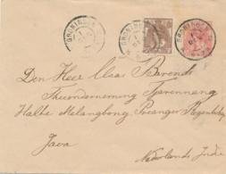 Nederland - 1903 - 5 Cent Bontkraag, Envelop G8b + 7,5 Cent Van GR Groningen (zonder Jaar) Naar Batavia/Nederlands Indië - Postwaardestukken