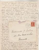 Lettre De Les Sources Cachet BUSSANG Vosges 13/2/1916 à Mlle Calas Marseille Texte Voir Description - WW I