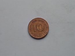 1949 F - 10 Pfennig BANK DEUTSCHER LANDER ( KM 103 ) Uncleaned ! - 10 Pfennig