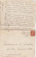 Lettre De Les Sources Cachet BUSSANG Vosges 25/3/1916 à Mlle Calas Marseille Texte Voir Description - WW I