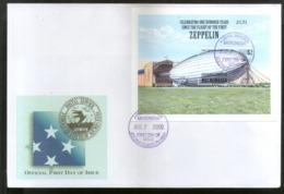 Micronesia 2000 Zeppelin Graf Air Ship Aviation Sc 391 M/s FDC # 9397 - Zeppelins